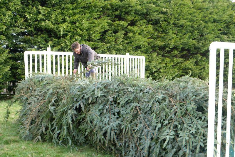 Will Riggle repairing the fences for the next visitors..