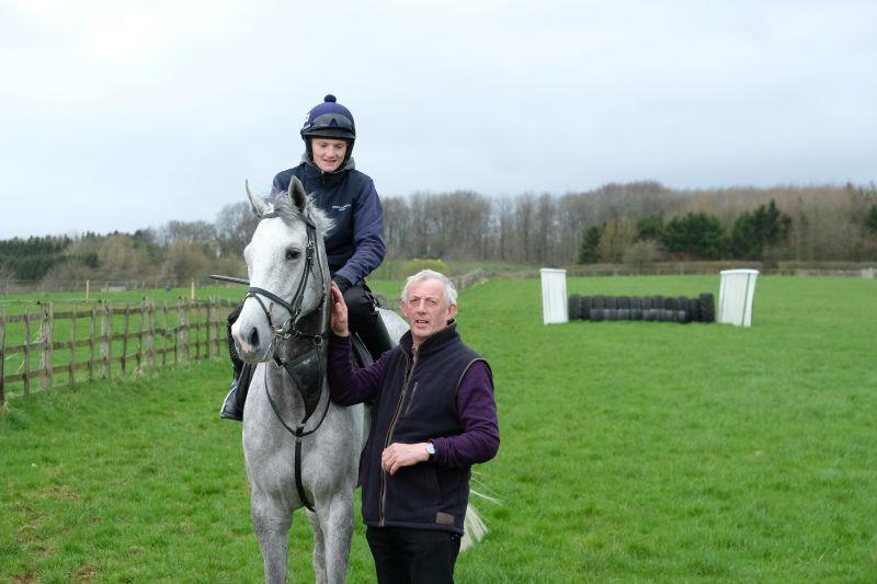 Steve Adams with his horse Silver Kayf