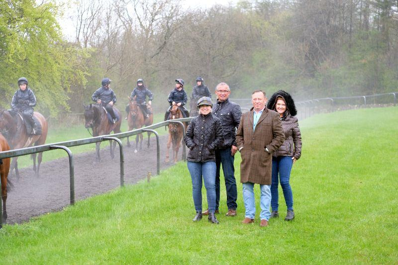 A morning on the gallops... wet wet wet..