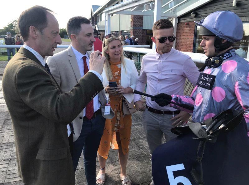 Warren, Shan and Matt listen to David bass and his post race thoughts on their horse