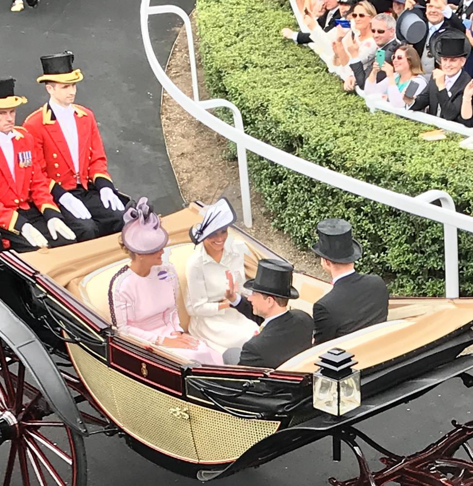 The Duke & Duchess of Sussex arriving at Ascot yesterday  - another great picture from Peter