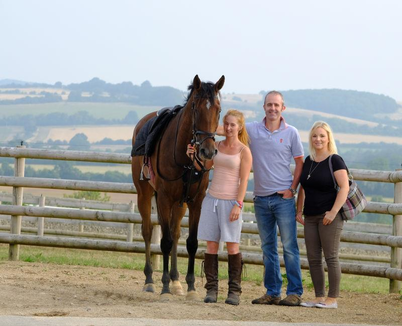 Peeping Tom with his KBRP owners Deri and Kerry Williams