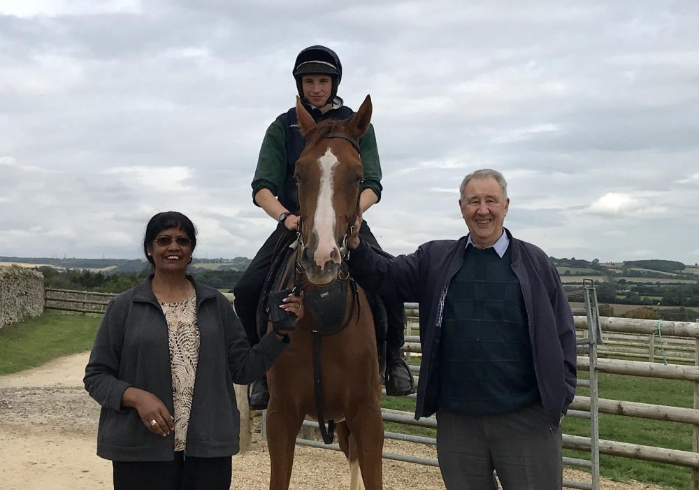 Peter and Thelma Leslie with their KBRP horse Lord Apparelli