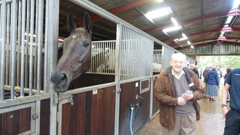 My longest serving owner Tony Solomons with his horse First Flow
