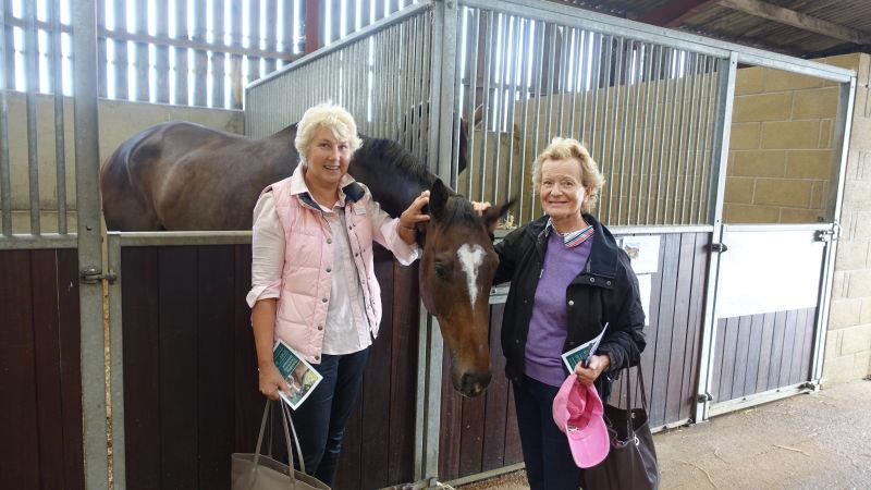 Marion Hudson and Tessa Foreman with their horse Espoir De Romay