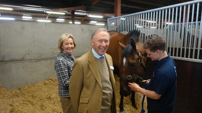 Mary and Michael Dulverton with their horse Newtide