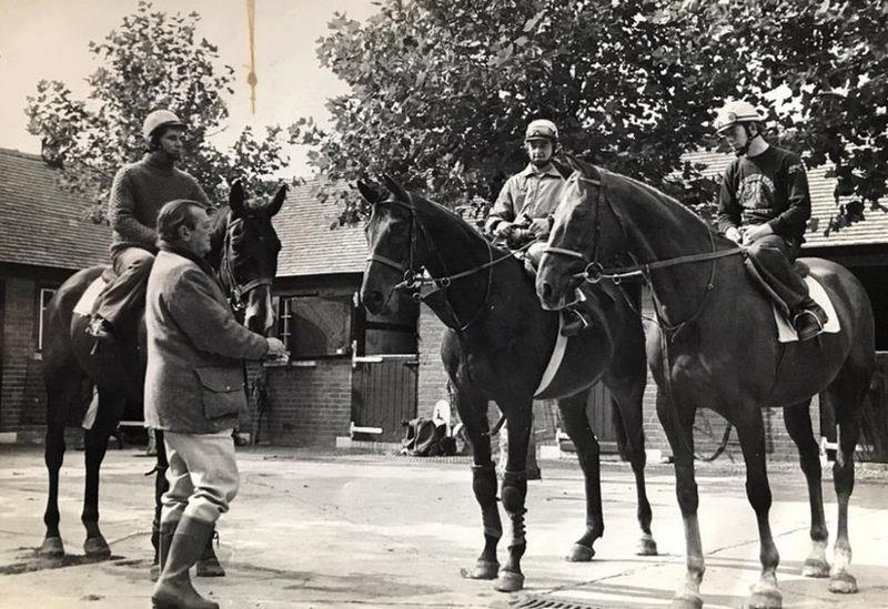 Sam riding Royal Frolic, Mervyn Heath riding Comedy Of Errors and John Burke on Rag Trade .. Fred Rimmel the trainer.. all have now gone..