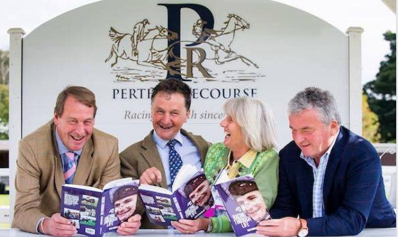 His book launch at Perth Racecourse