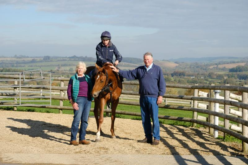 Ann and Ian Dimmer with Yeavering Belle