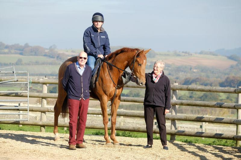 Pete and Olive Smith with their Shantou gelding