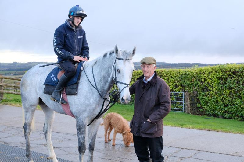 Silver Kayf with his owner Steve Adams