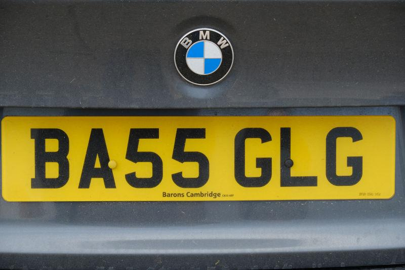 My jockey has splashed out on a new car number plate..