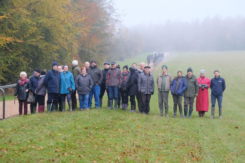 The team from The Racegoers Club on the gallops