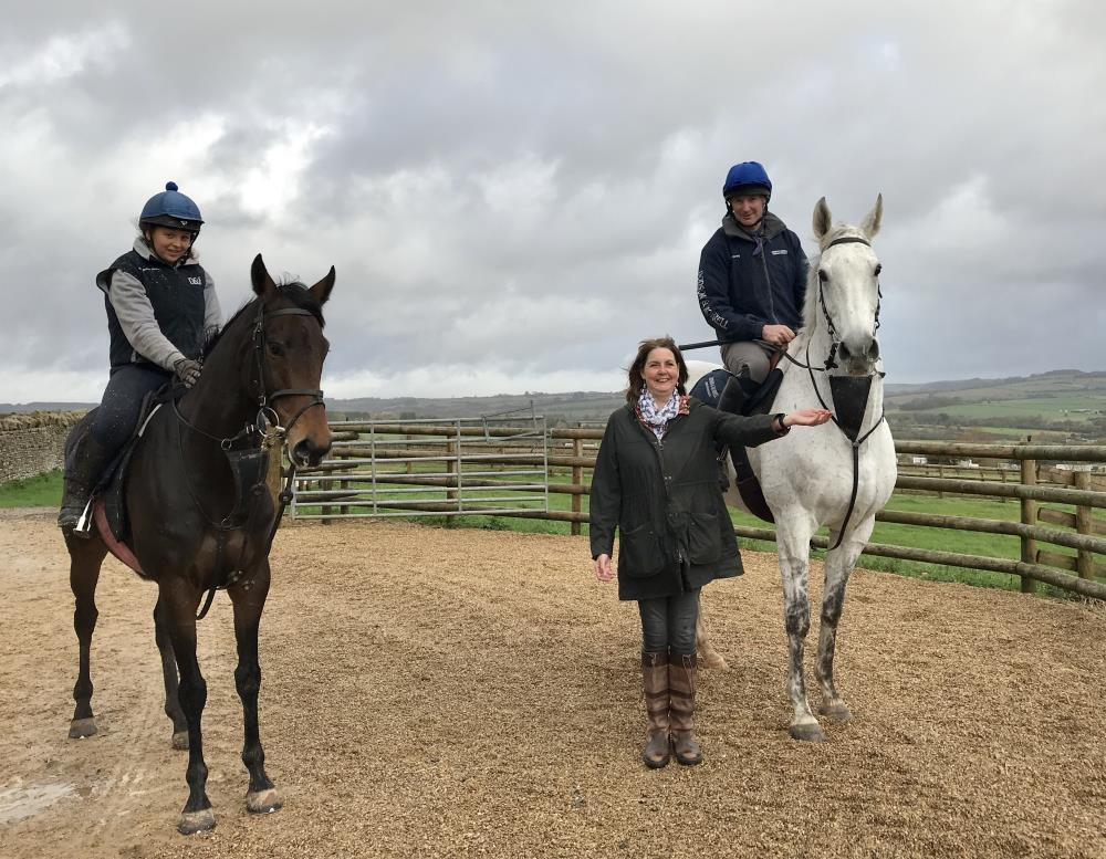 Karen Masters with her KBRP horses Knockanrawley and Mergeela