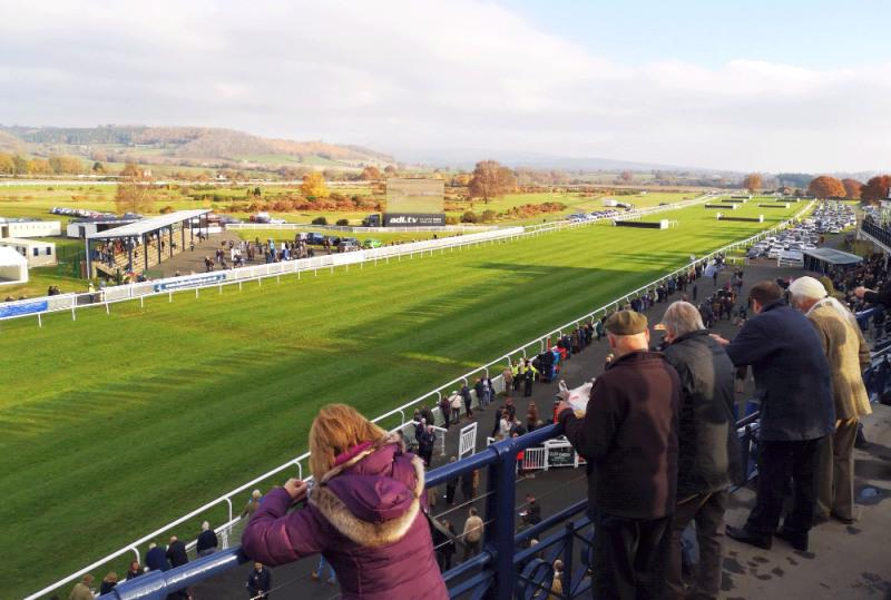 Ludlow racecourse from the roof of their stand