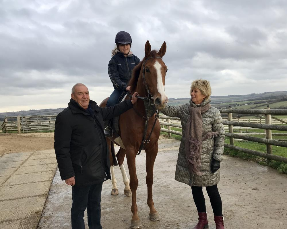 Allan & Sally James with their KBRP horse Lord Apparelli