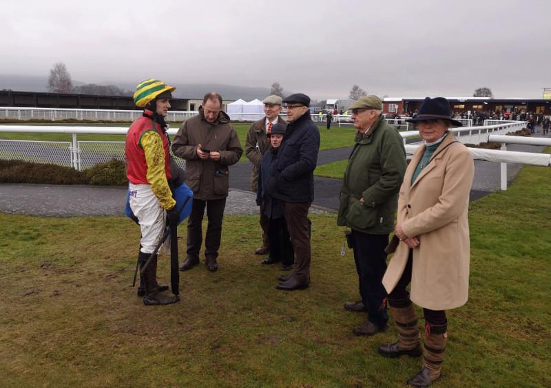 Gloomy after Red River.. David Bass telling RR's owners about slipping at the third last..