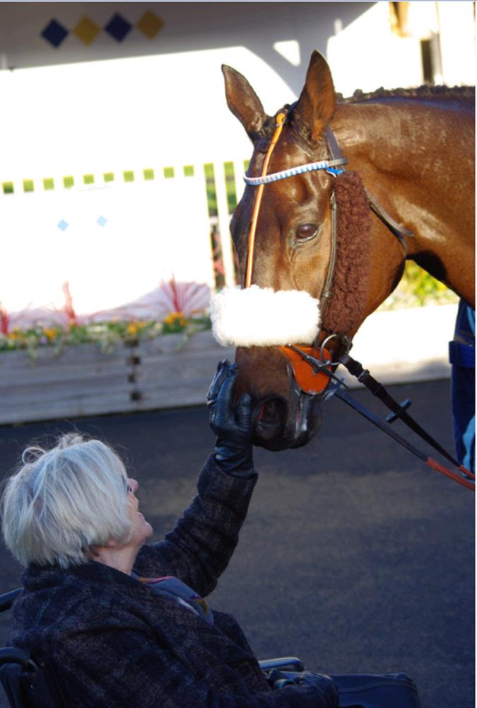 One of my favourite photos.. Penny Perriss with By The Boardwalk after his recent win at Huntingdon