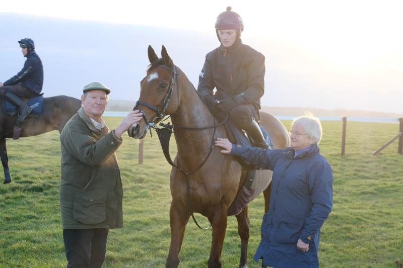 Sadlermor with his owners Nicholas and Gill Sperling