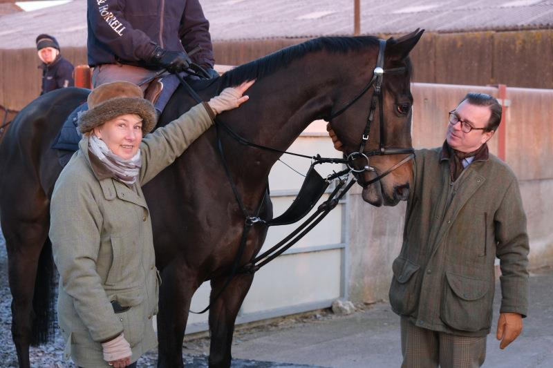 Marion and Mark Hudson with their horse Espoir De Romay