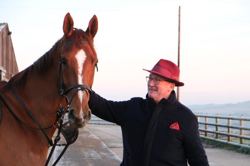 Peter Bennett-Jones with his horse Prince Llywelyn