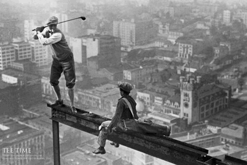 Not sure I have a heads for heights this morning. anyway I dont play golf..