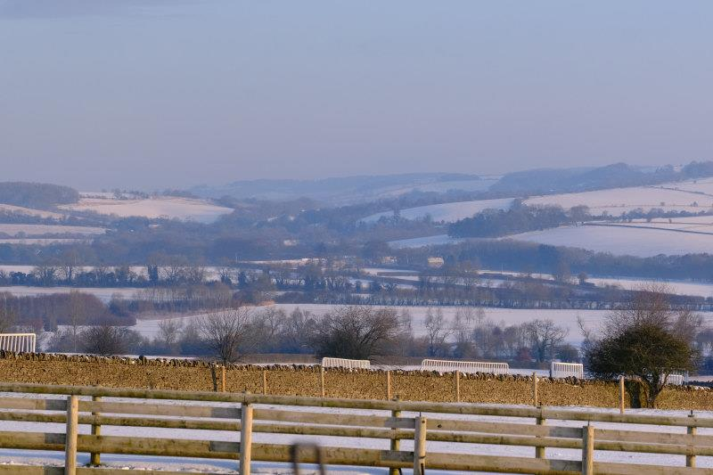 This mornings view towards Winchcombe