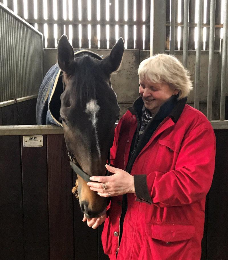 Susan Brien with her horse Vinndication yesterday