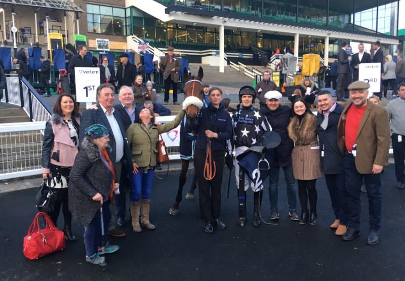 In the winners enclosure