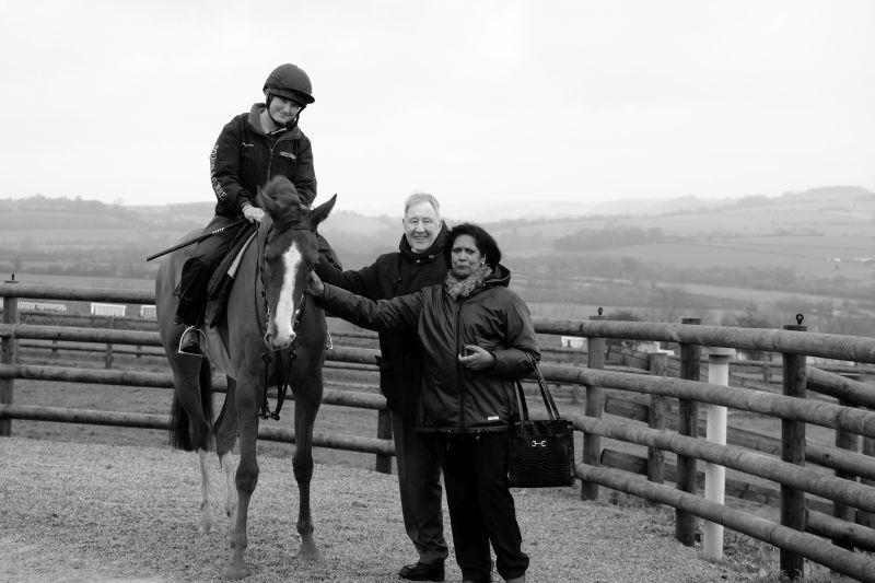 Lors Apparelli with his owners Peter and Thelma Leslie