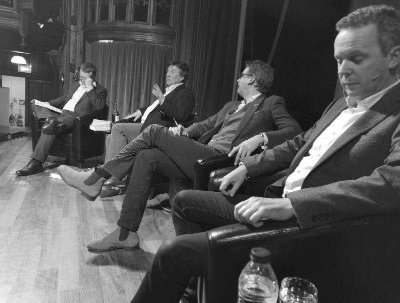 The panel at The Ladies College. Richard Hoiles, Richard Phillips, Ed Chamberlin and Bruce Millington