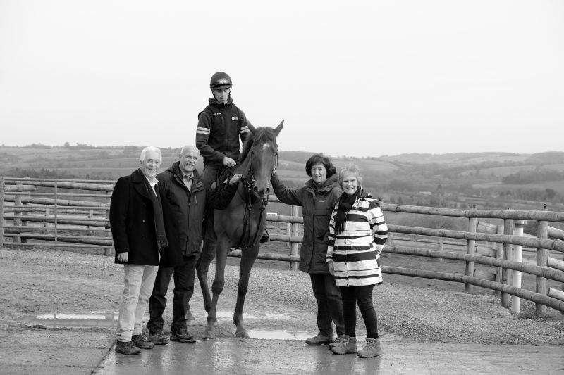 Shantou Express with his owners Paul, John, Veronica and Phillipa
