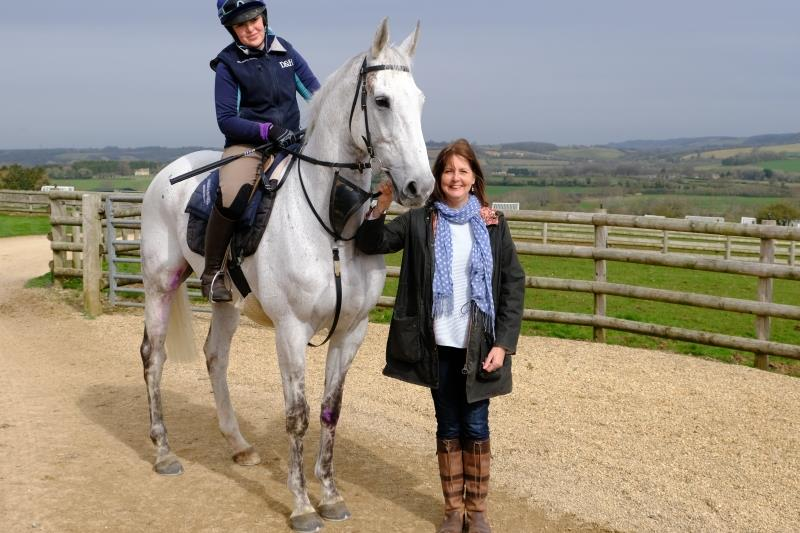 Karen Masters with her horse Knockanrawley