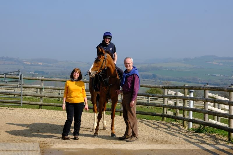 Angie and Iain Bell with their horse Lord Apparelli