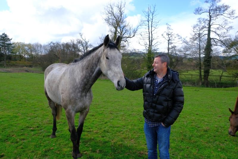 Phil with his horse Mr Grey Sky