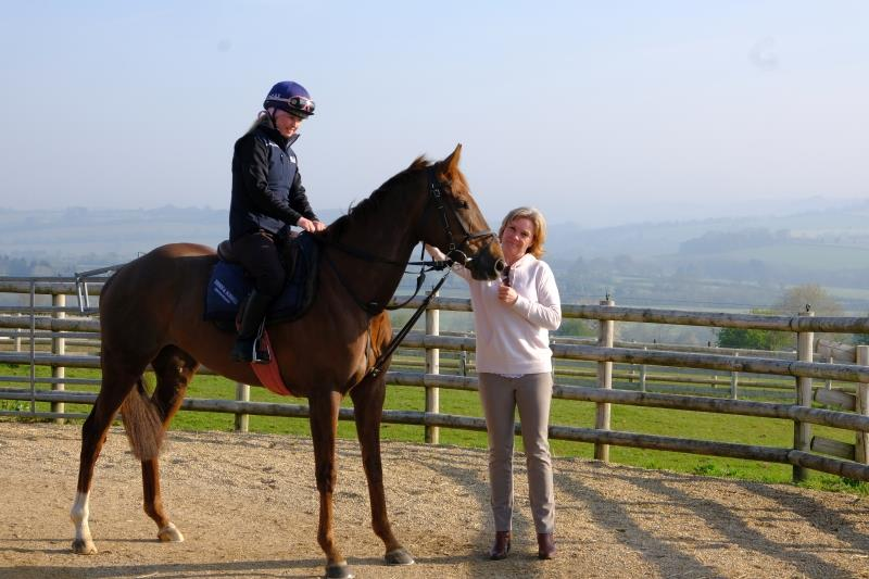 Sandra Steer-Fowler with her horse Miss Gemstone