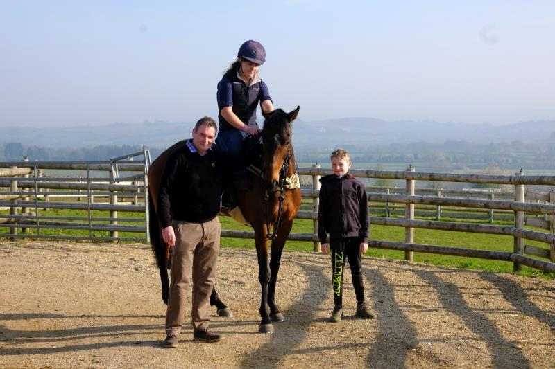 Simon and Marcus with Keane his horse Cotteemcavennigoal