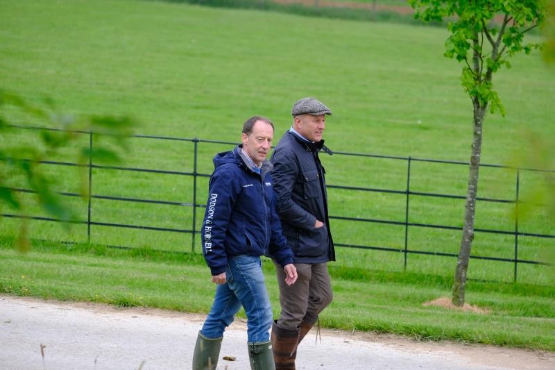 Peter and John walking to the gallops