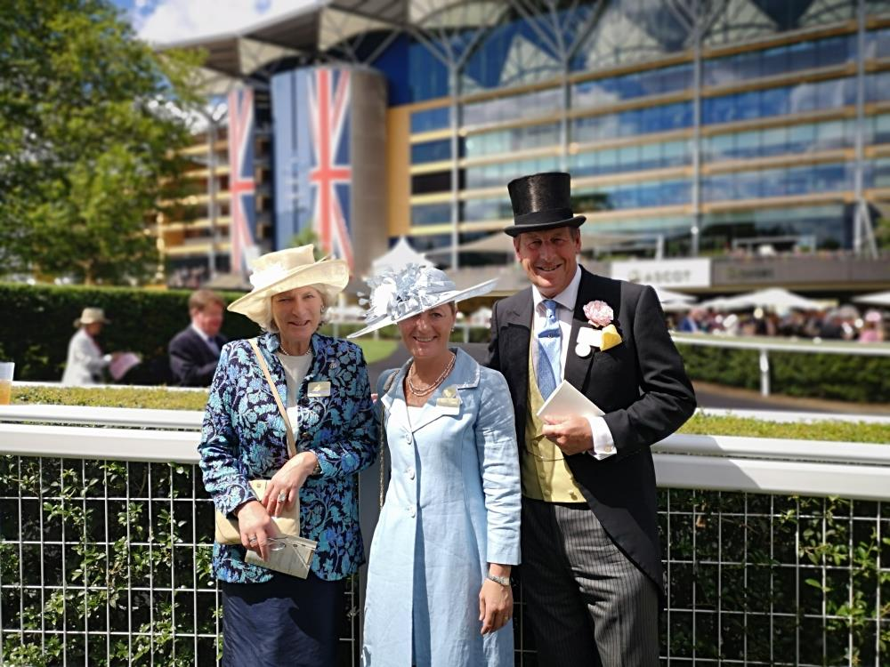 Cilla Wills (Clares mother), Clare and I enjoying our day at Ascot on Saturday