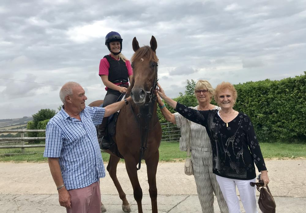 Alan & Sally James with friend Carol from Canada with their new purchase Shinobi