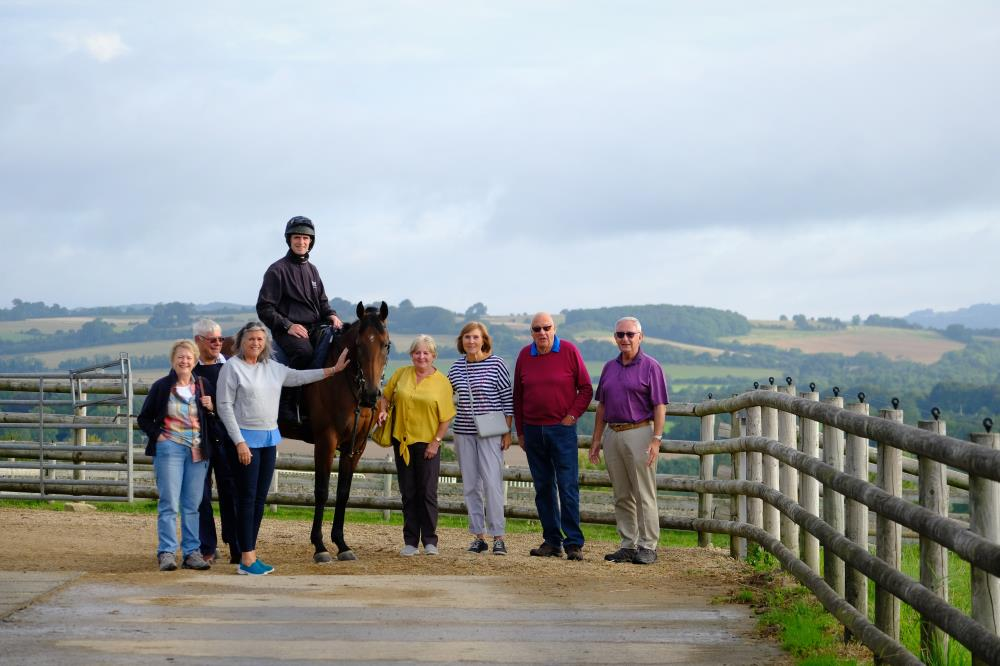 Drumreagh with her owners Caroline and David BayesSue Stanley, Brenda Minifie, Gina Waugh, John Stanley and Russell Field.