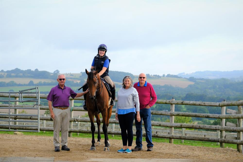 Bandon Roc with owners Russell Field, Sue and John Stanley