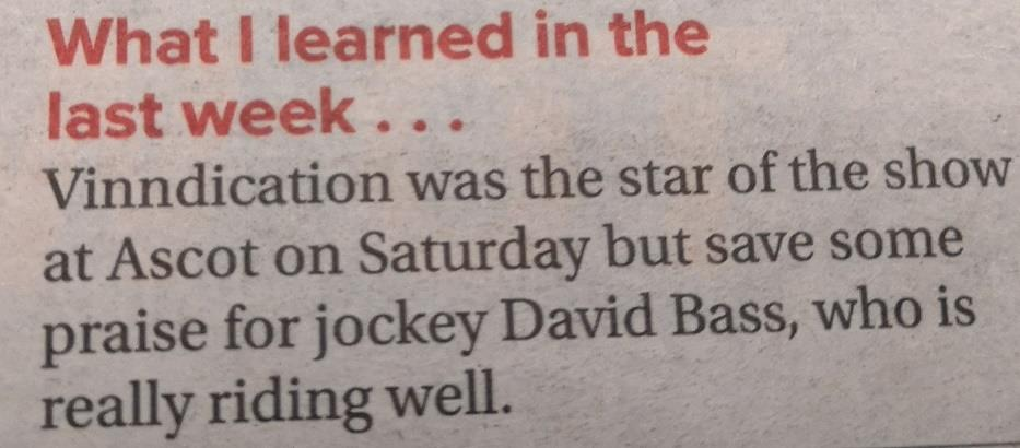 Todays Racing Post