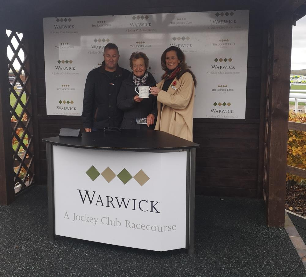 Prize giving with Cathy Twiston-Davies