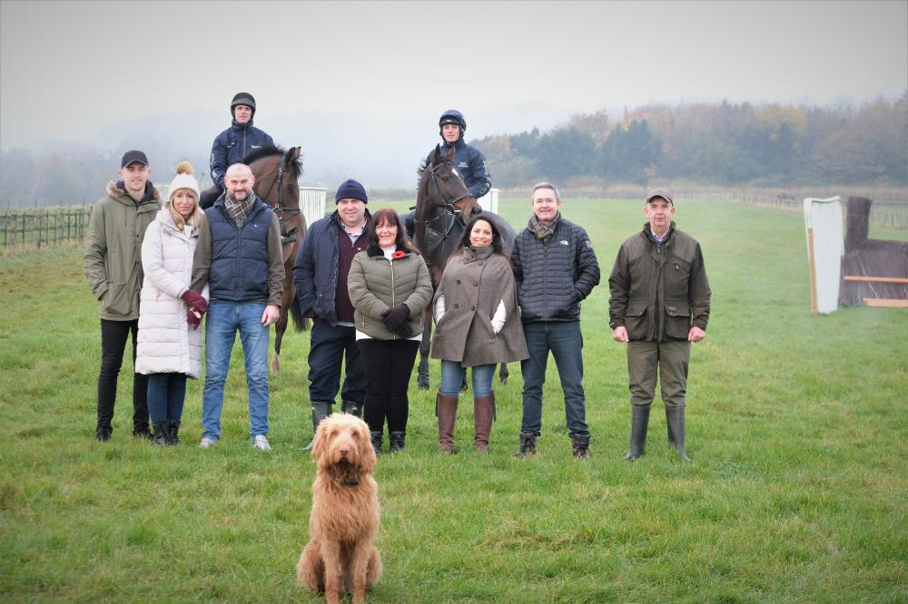 Team photo.. Morning on the gallops.