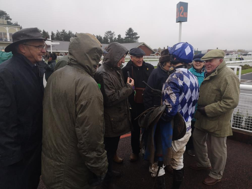 David Bass telling Does He Knows owners how he ran
