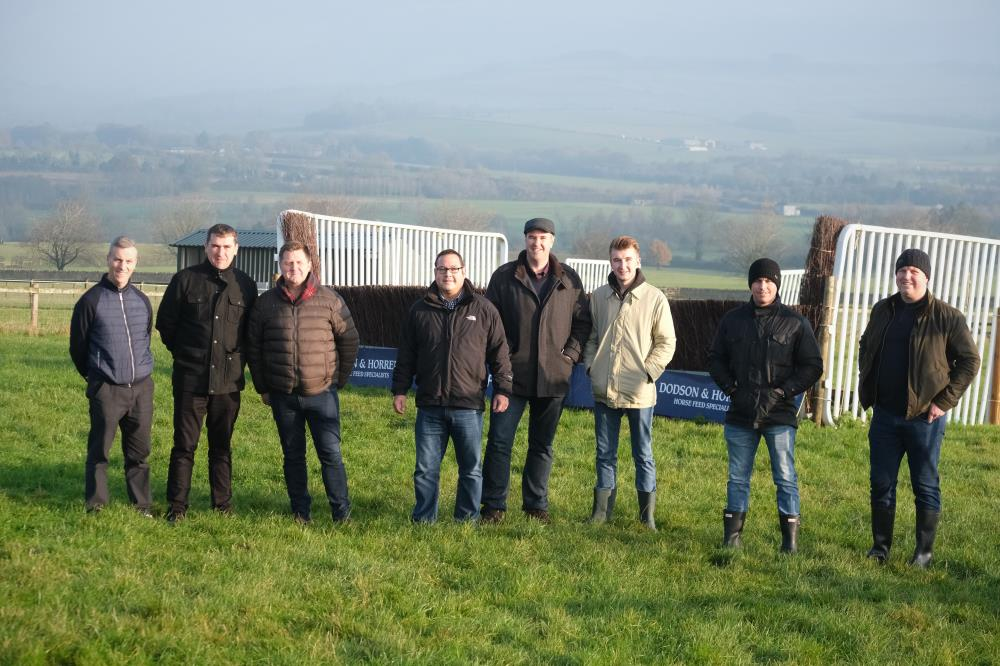 This mornings team for a morning on the gallops.. well schooling ground