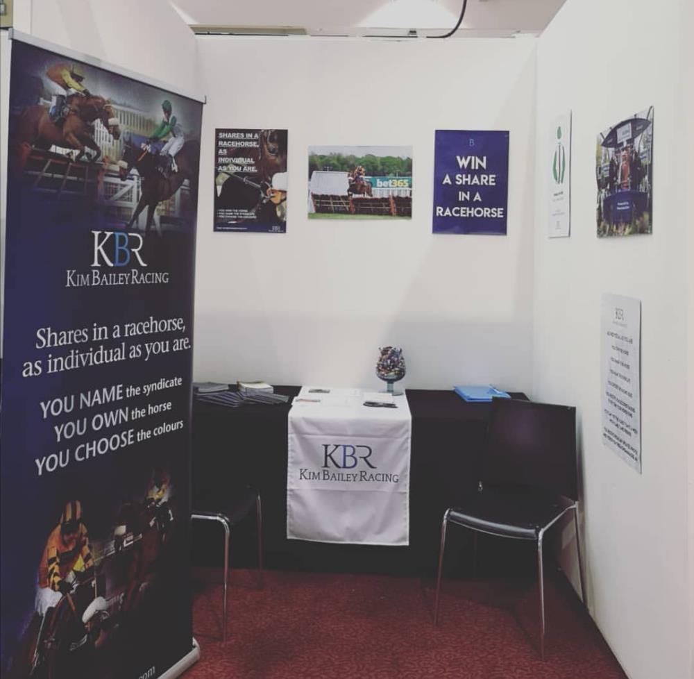 The Kim Bailey Racing stand at Ascot yesterday