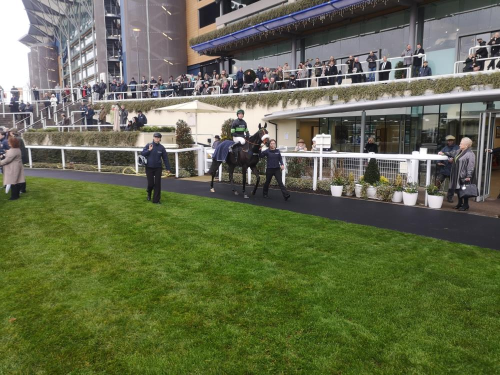 First Flow returns to the unsaddling enclosure