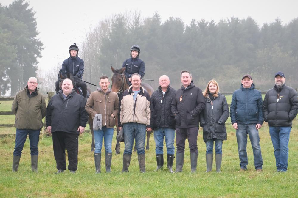 This mornings team for a morning on the gallops and breakfast